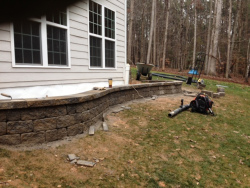 Rear Retaining Wall after Installation