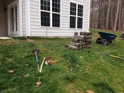Rear Retaining Wall before Installation