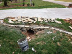 Stacked Stone Culvert with Blue Stone Before