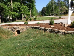 Stacked Stone Culvert with Blue Stone After