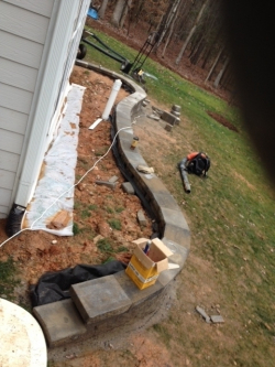 Rear Retaining Wall