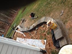 Rear Retaining Wall