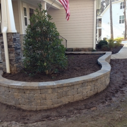 """Finished Wall with 3"""" Capstones"""