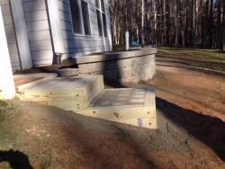 Completed Rear Wall with Paver Steps