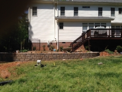 Retaining wall for Donnelly Paver Patio